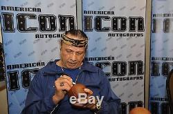Superfly Jimmy Snuka & Rowdy Roddy Piper Signed Coconut PSA/DNA COA Auto WWF WWE