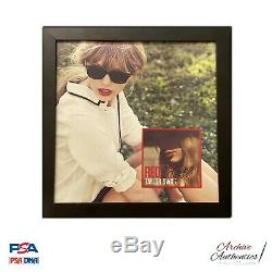 Taylor Swift Signed Red CD Album Display PSA/DNA COA LOA