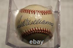 Ted Williams Autographed Baseball OAL Sweetspot with COA PSA/DNA Guarantee HOF