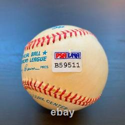Ted Williams Signed Autographed Official American League Baseball PSA DNA COA