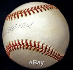 Ted Williams Signed Oal Baseball Red Sox Hof Psa/dna Upper Deck Uda Hologram Coa
