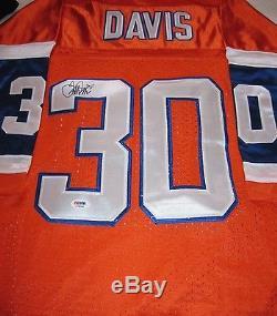 Terrell Davis Signed Denver Broncos Jersey Autograph Psa/dna Coa