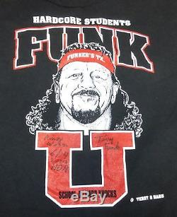 Terry Funk U Signed Ring Worn Used Shirt PSA/DNA COA Autograph WWE ECW HOH VI 6