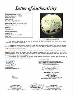 The Finest Cy Young Single Signed Baseball Graded Mint 9 PSA DNA & JSA COA