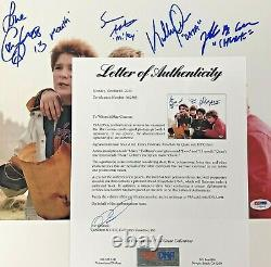 The Goonies cast signed 11x14 photo PSA/DNA COA LOA Cohen Astin Feldman Ke Quan