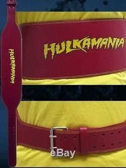 The Immortal Hulk Hogan Signed Official Hulkamania Weight Belt PSA/DNA COA WWE