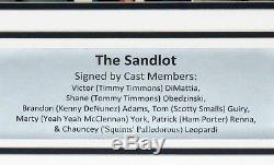 The Sandlot 7x Team Autographed 11x14 Photo Psa Dna Coa Custom Framed & Plate