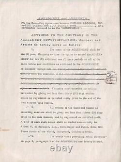 Tina & Ike Turner + Phil Spector 1967 Original Contract Signed PSA/DNA COA RARE