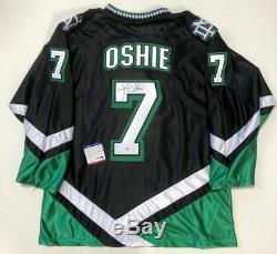 Tj Oshie Signed North Dakota Fighting Sioux Black Jersey Psa/dna Coa Capitals