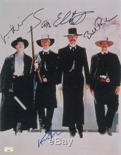 Tombstone Cast Signed 11x14 Photo Kilmer, Paxton, Elliott & Russell. Psa/dna Coa