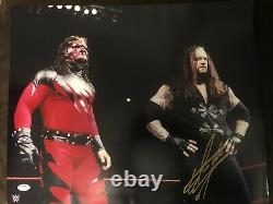 Undertaker Kane RARE Signed Autographed WWF WWE 16x20 PSA DNA COA