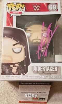 Undertaker Signed WWE FUNKO Series 69 Pop PSA DNA COA DEADMAN PURPLE PAINT