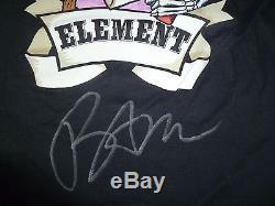 Viva La Bam Margera Signed Element Skateboard Shirt Black XL PSA/DNA COA Jackass
