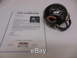 WALTER PAYTON Autograph Signed Chicago Bears Mini Helmet PSA/DNA COA AF03342