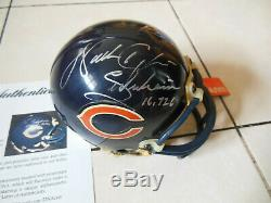 WALTER PAYTON Autographed Signed Chicago Bears Mini Helmet with PSA DNA COA