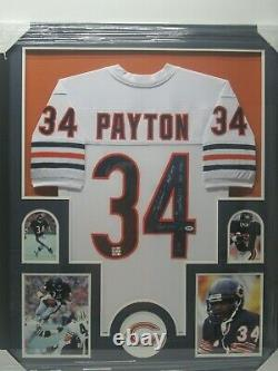 WALTER PAYTON Chicago Bears Signed Autographed 34x42 Framed Jersey PSA/DNA CoA