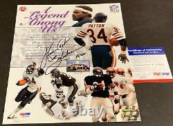 Walter Payton Chicago Bears Autographed Signed 8x10 Photo Psa Dna Coa