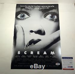 Wes Craven Signed Scream Movie Poster Video Proof Psa/dna Coa #v27228