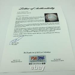 Willie Mays Hank Aaron Ernie Banks 500 Home Run Club Signed Baseball PSA DNA COA