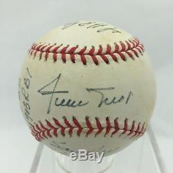 Willie Mays Signed Heavily Inscribed Stats Baseball 16 Inscriptions PSA DNA COA