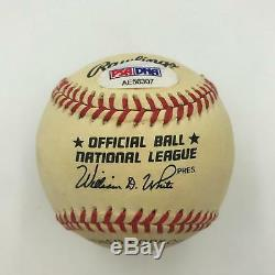 Willie Mays Signed Official National League Baseball With PSA DNA COA Auto