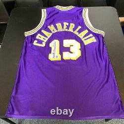 Wilt Chamberlain Signed 1971-72 Los Angeles Lakers Game Model Jersey PSA DNA COA